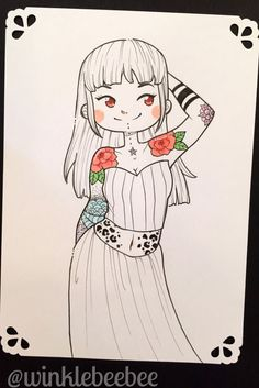 Original Illustrations: Tattooed Sweeties by Winklebeebee on Etsy