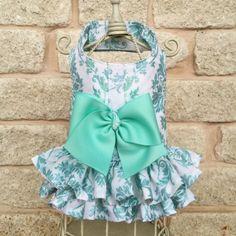 Mint Sparkle Dog Dress