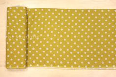 Japanese Fabric Linen Spots mustard by MissMatatabi on Etsy