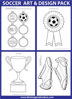 e4334cdb62b 40 page art and design soccer activity resource pack Football Medals