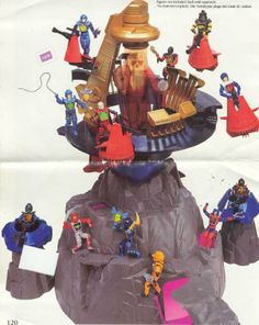 """The unreleased Iron Mountain Holodrome playset, from Hasbro's """"Visionaries"""" line of toys"""