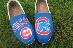 Custom painted Sports TOMS by SoleSistersShoes1 on Etsy, $140.00