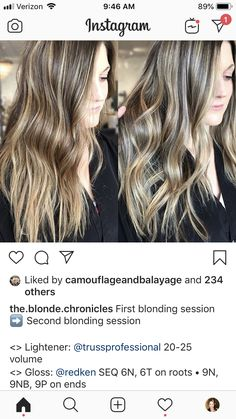 Balayage Hair Tutorial, Hair Color Formulas, Bayalage, Haircolor, Hair Beauty, Long Hair Styles, Ideas, Hair Color, Long Hairstyle