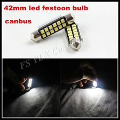 42MM 12 SMD 3528 Car Interior Dome Festoon LED Light Bulbs Lamp White  LED Auto Car Dome Festoon Interior Bulb Roof Light Lamp