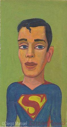 Superman, acrílico sobre tela, 15,5 x 29 cm. 2015.
