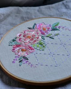 Embroidery pattern Flowers PDF digital download Roses and