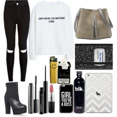 Untitled #8 by loloweed on Polyvore featuring polyvore fashion style MANGO Miss KG Maison Margiela Casetify MAC Cosmetics