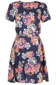 Floral Crepe Skater Dress