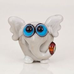 Christmas Elephant Lampwork Glass Bead by maybeads on Etsy, $19.00