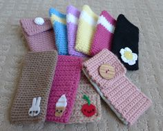 3 styles crochet cell phone cases