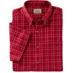 L.L.Bean Wrinkle-Free Twill Sport Shirt, Traditional Fit Short-Sleeve... ($45) ❤ liked on Polyvore featuring men's fashion, men's clothing, men's shirts, men's casual shirts, mens non iron dress shirts, mens button shirts, mens long sleeve casual shirts, mens short sleeve casual shirts and mens twill shirts