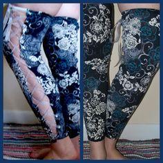 Upcycled Flirty Lace-Up Legwarmers on Etsy, $16.50