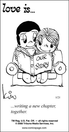 Love is ... Writing a new chapter together