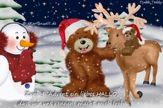 2 Advent, Cute Teddy Bears, E Cards, Christmas Ornaments, Toys, Holiday Decor, Winter, Funny Smiley, Merry Christmas Pictures