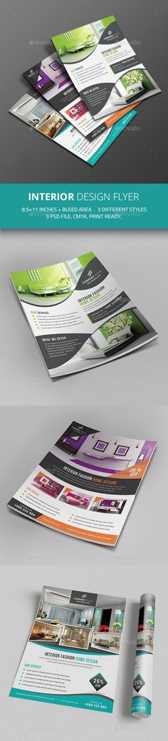Interior Design Flyer Template #design Download: http://graphicriver.net/item/interior-design-flyer/12124502?ref=ksioks