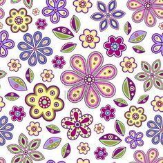 illustration of  seamless with colorful abstract flowers on white background  Stock Vector from 123rf.com