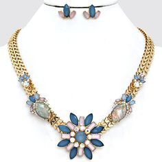 Grace Necklace in Soft Blues