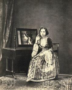 Greek woman in traditional dress - 1860s.