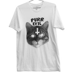 Purr Evil Cat TShirt ATTN notate SIZE during by killercondoapparel, $23.99    SO COOL!
