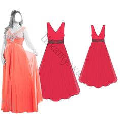Выкройка вечернего платья | Шкатулка free plus-size pattern