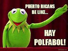 Puerto Ricans Be Like...   Hay Polfabol! Kermit the Frog is one big coqui.