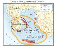 Map of Cycladic Minoan & Mycenaean Cultures