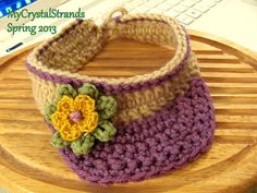 Buggs - Crochet Orchard Plum Baby Sun Visor w/ Accent flower - Customize Your Color or Closure Style on Etsy, $16.00