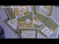 One Sheet Wonder Cards with the Something Borrowed Stampin' Up! Designer Paper - Laura's Stamp Pad - YouTube