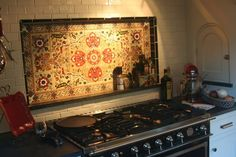 Backsplash and look at the little spice door!!!