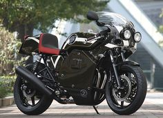 "Very cool Japanese custom bike maker Whitehouse made this Honda CB750 and it costs ""only"" $29K. It is art though."