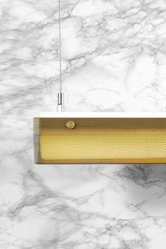 Branch Pendant Gold - A family of minimal ceiling pendants, perfect for use in hallways. Warm light filters through perforated metal shades. UL Damp Location, RoHS Made in USA