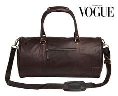 Leather weekend bag  Leather duffle bag  overnight by MAHILeather
