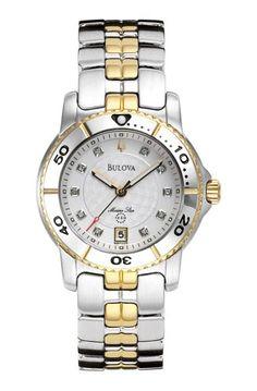 Bulova Womens 98P006 Marine Star Calendar Watch * Want additional info? Click on the image.