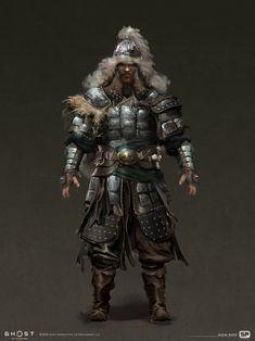 Fantasy Character Design, Character Concept, Character Art, Paladin, Urban Samurai, Japanese Warrior, Ghost Of Tsushima, Female Dragon, Armor Concept