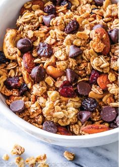 "Need that perfect on-the-go snack? Try this ""Hit the Trail"" Trail Mix Granola recipe for packing with you when going out for the day. Filled with nuts, oats, chocolate, and more this is sure to be your new favorite!"