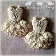 Beautiful Swan Lake Ballet Tutu Cookies