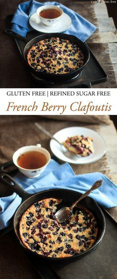 Gluten free berry clafoutis--a beautiful French custard made with berries instead of the typical cherries.