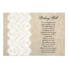 White Lace & Burlap Wishing Well Wedding Card in each seller & make purchase online for cheap. Choose the best price and best promotion as you thing Secure Checkout you can trust Buy bestThis DealsOnline Secure Check out Quick and Easy...
