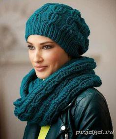 Мир хобби: Узор для шапочки и снуда (вязание спицами)