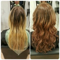 From blonde to brunette. By Thuy.N