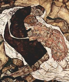 Egon Schiele - Death and the Maiden, 1915 (detail) | More posts