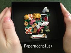 lunch  japan miniature quilling
