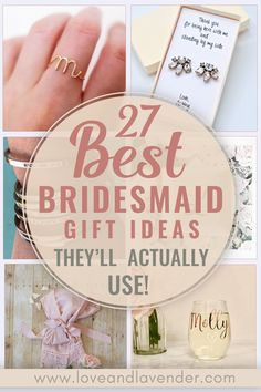 Looking for the perfect gift to give your bridesmaids that they will actually use? You'll definitely want to check out our list of 27 best bridesmaids gift ideas that will guaranteed be cherished long after the wedding date. | bridesmaids | gifts | bridesmaids gifts | wedding thank you gifts | bridesmaid gifts from bride | #bridesmaidsgifts #bridesmaidsgiftsfrombride #weddingthankyougifts