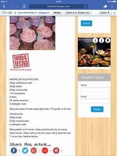 Afrikaans, Cupcakes, Party Ideas, Names, Treats, Baking, Recipes, Food, Bakken