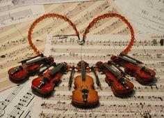 Collier *Streichquintett* - Klunkerfisch (www.Klunkerfisch,de)