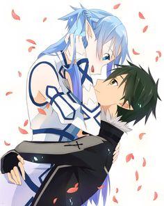 Sword Art Online, Asuna + Kirito, by Keiji
