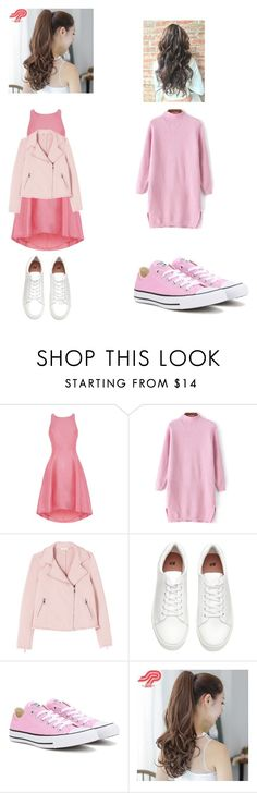 """""""Untitled #1628"""" by aurorazoejadefleurbiancasarah ❤ liked on Polyvore featuring Coast, Converse and Pin Show"""