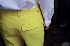 #Yellow #ChristianLacroix Menswear Spring-Summer 2013 #Backstage