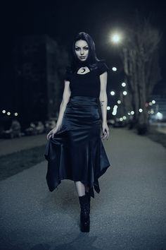 Angel After Dark. Top Gothic Fashion Tips To Keep You In Style. As trends change, and you age, be willing to alter your style so that you can always look your best. Consistently using good gothic fashion sense can help Bad Fashion, Gothic Fashion, Fashion Outfits, Womens Fashion, Darya Goncharova, Gothic Models, Outfit Combinations, Gothic Beauty, Dark Beauty