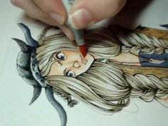 MissKerrieJ - Copic Marker Illustration (GREAT hair illustration and shading!)
